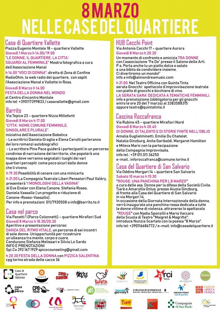 Programma 8 Marzo Case del Quartiere Torino