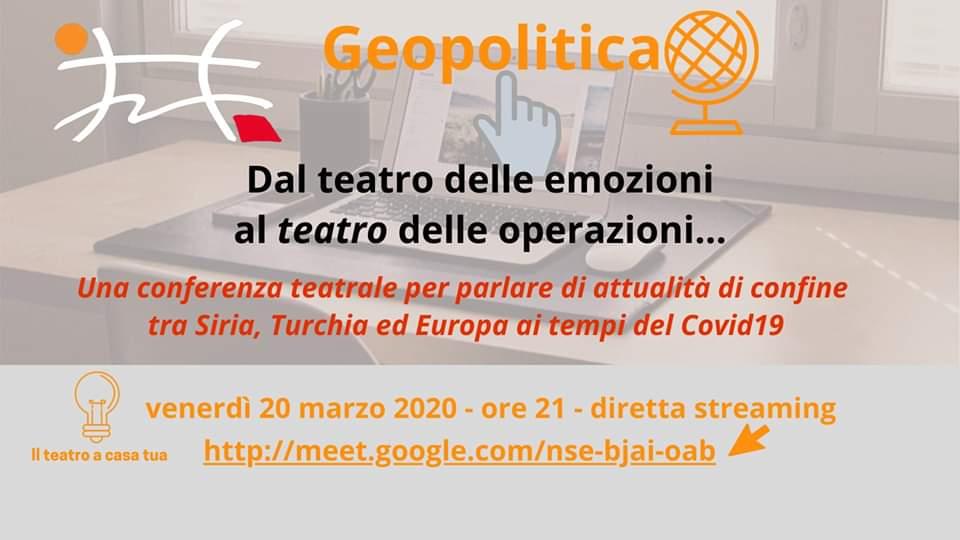 Conferenza teatrale Geopolitica
